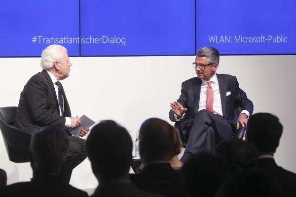 BDI-Präsident Ulrich Grillo im Gespräch mit Udo van Kampen