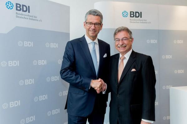 Ulrich Grillo und Dieter Kempf auf der BDI-Pressekonferenz im Haus der Deutschen Wirtschaft