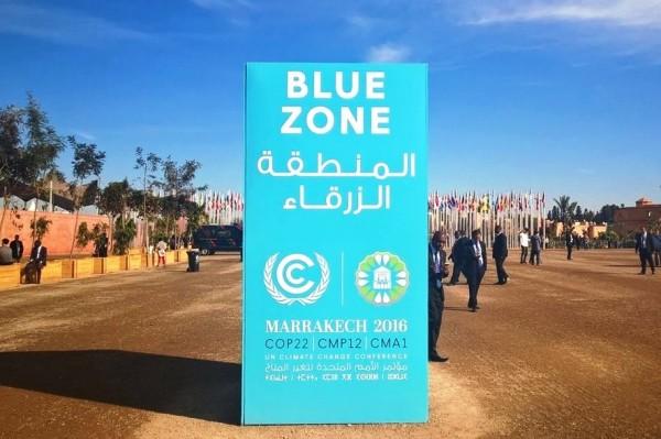 Impression von der Klimakonferenz in Marrakesch