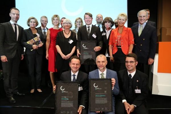 Die Preisträger und Jury des Deutschen Kulturförderpreises 2016