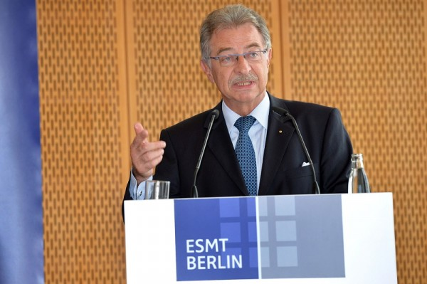 BDI-Präsident Kempf auf der ESMT-Veranstaltung