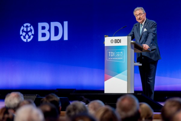 BDI-Präsident Dieter Kempf auf dem TDI'17