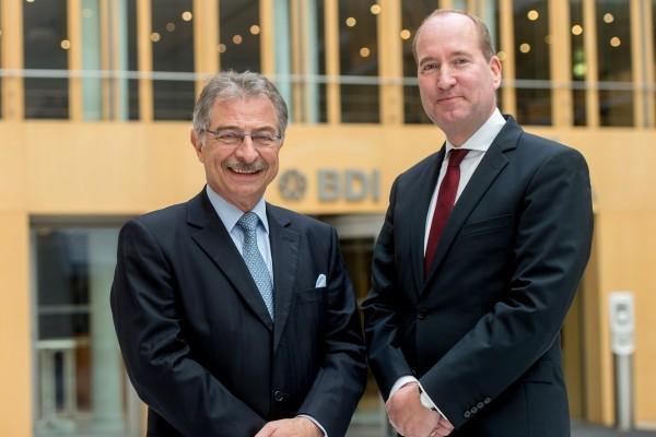 BDI-Präsident Dieter Kempf und BDI-Hauptgeschäftsführer Joachim Lang