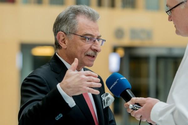 BDI-Präsident Dieter Kempf beim O-Ton