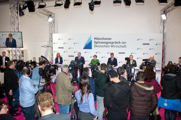 Spitzenverbände der deutschen Wirtschaft auf der Pressekonferenz des Münchener Spitzengesprächs