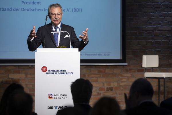 BDI-Präsident Dieter Kempf auf der Transatlantischen Wirtschaftskonferenz der American Chamber of Commerce